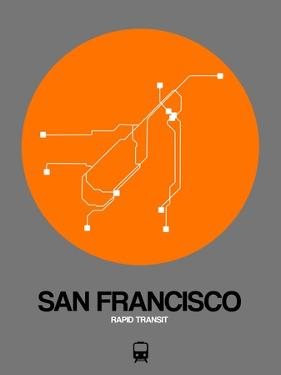 San Francisco Orange Subway Map by NaxArt
