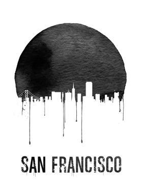 San Francisco Skyline White by NaxArt