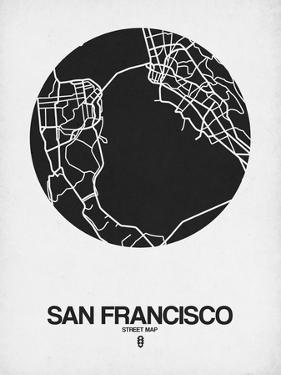 San Francisco Street Map Black on White by NaxArt