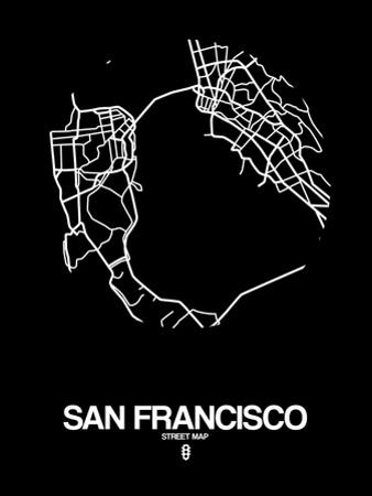 San Francisco Street Map Black by NaxArt