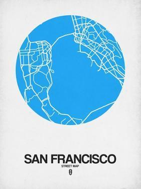 San Francisco Street Map Blue by NaxArt
