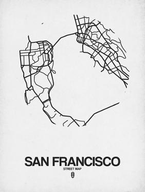 San Francisco Street Map White by NaxArt