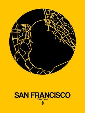 San Francisco Street Map Yellow by NaxArt