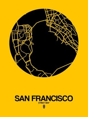 San Francisco Street Map Yellow by NaxArt