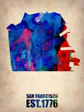 San Francisco Watercolor Map by NaxArt