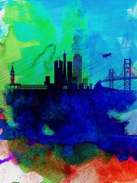 San Francisco Watercolor Skyline 2 by NaxArt