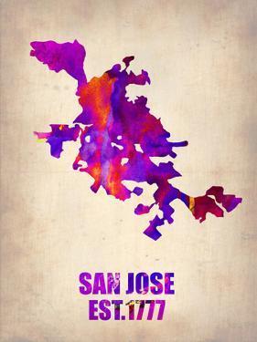 San Jose Watercolor Map by NaxArt