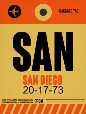 SAN San Diego Luggage Tag 1 by NaxArt