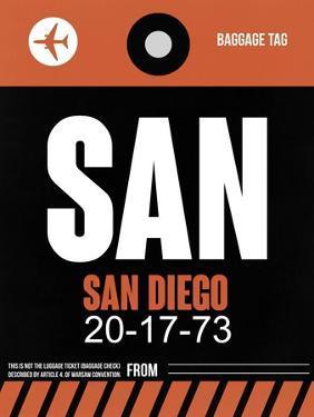 SAN San Diego Luggage Tag 3 by NaxArt