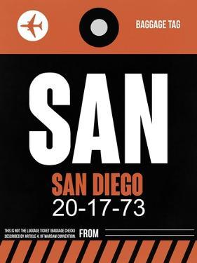 SAN San Diego Luggage Tag 3 by NaxArt