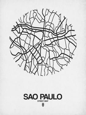 Sao Paulo Street Map White by NaxArt