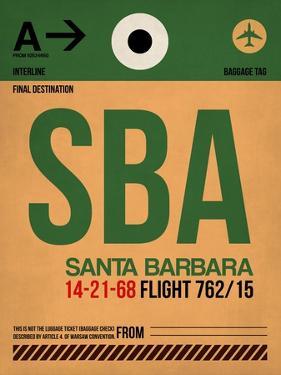 SBA Santa Barbara Luggage Tag I by NaxArt