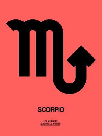 Scorpio Zodiac Sign Black by NaxArt