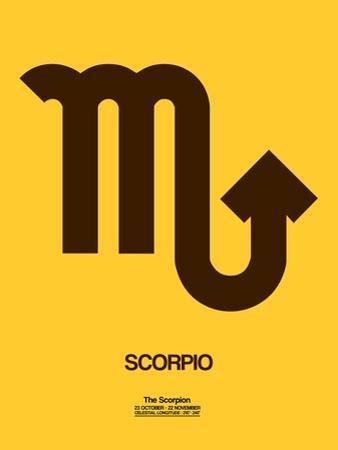 Scorpio Zodiac Sign Brown by NaxArt