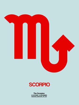 Scorpio Zodiac Sign Red by NaxArt