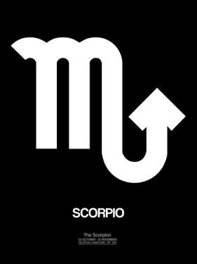 Scorpio Zodiac Sign White by NaxArt
