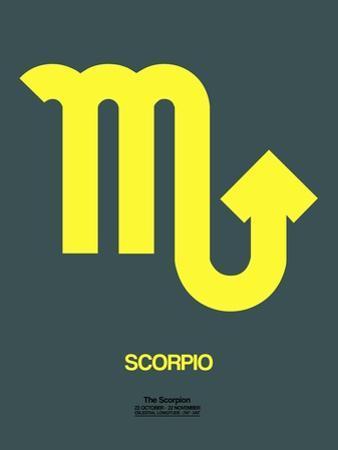 Scorpio Zodiac Sign Yellow by NaxArt