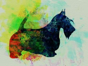 Scottish Terrier Watercolor by NaxArt