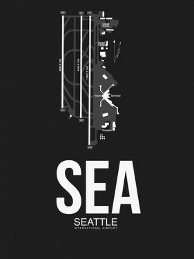 SEA Seattle Airport Black by NaxArt