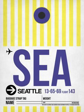 SEA Seattle Luggage Tag 1 by NaxArt
