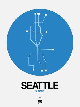 Seattle Blue Subway Map by NaxArt