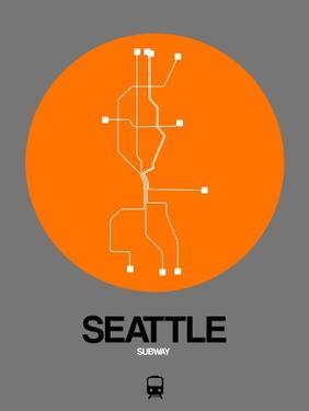 Seattle Orange Subway Map by NaxArt