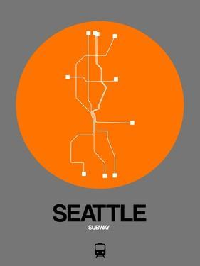Seattle Orange Subway Map by NaxArt