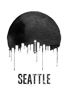 Seattle Skyline White by NaxArt