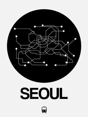 Seoul Black Subway Map by NaxArt