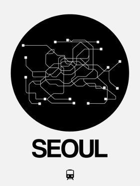Seoul Black Subway Map by NaxArt