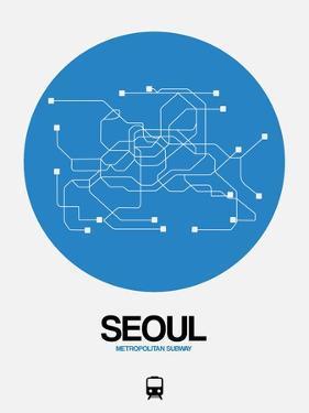 Seoul Blue Subway Map by NaxArt