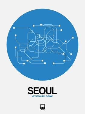 Seoul Blue Subway Map by NaxArt