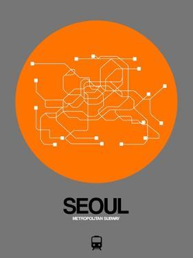 Seoul Orange Subway Map by NaxArt