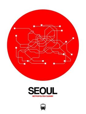 Seoul Red Subway Map by NaxArt