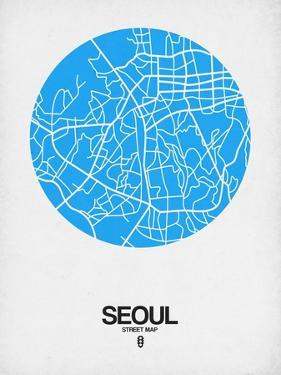 Seoul Street Map Blue by NaxArt