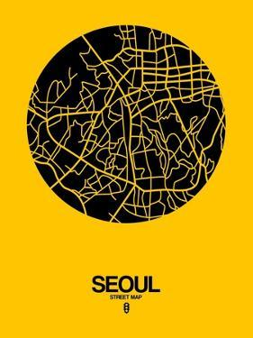 Seoul Street Map Yellow by NaxArt