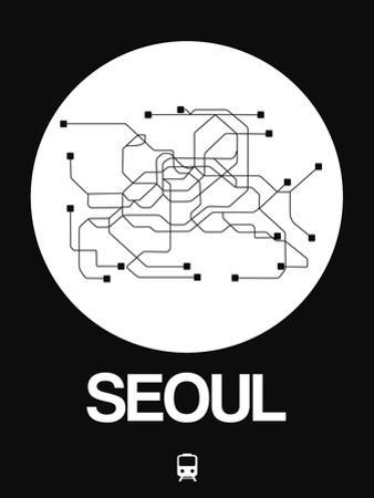 Seoul White Subway Map by NaxArt
