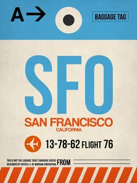 SFO San Francisco Luggage Tag 1 by NaxArt