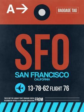 SFO San Francisco Luggage Tag 2 by NaxArt