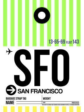SFO San Francisco Luggage Tag 3 by NaxArt