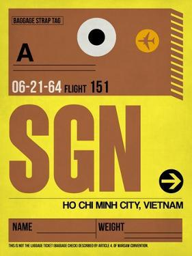 SGN Ho Chi Minh City Luggage Tag I by NaxArt