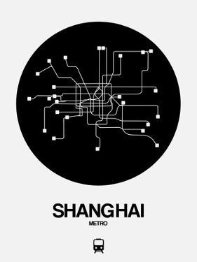 Shanghai Black Subway Map by NaxArt