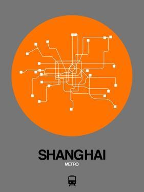 Shanghai Orange Subway Map by NaxArt