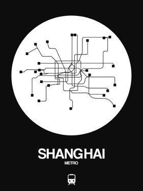 Shanghai White Subway Map by NaxArt