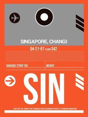 SIN Singapore Luggage Tag II by NaxArt