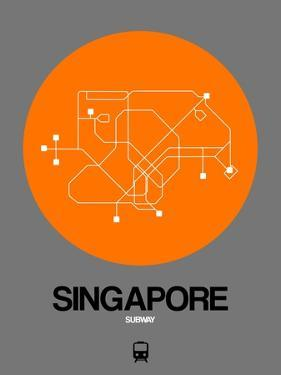 Singapore Orange Subway Map by NaxArt