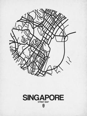 Singapore Street Map Blue by NaxArt