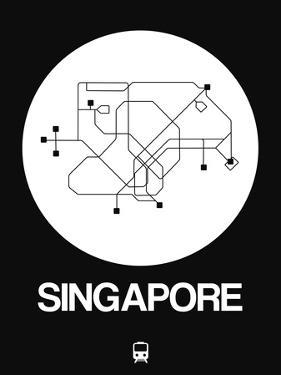 Singapore White Subway Map by NaxArt