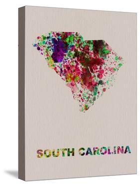 South Carolina Color Splatter Map by NaxArt