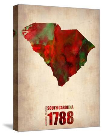 South Carolina Watercolor Map by NaxArt